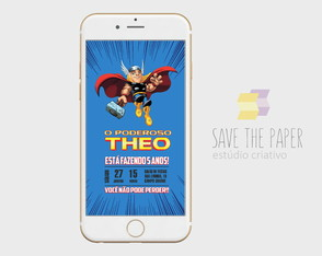 CONVITE DIGITAL | SAVE THE DATE - THOR