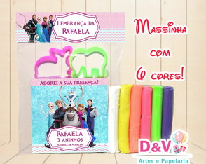 Massinha Personalizada Frozen - Kit com Moldes
