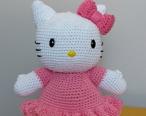 Hello Kitty Crochê Amigurumi