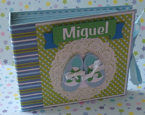 album-para-fotos-decorado-scrap-bebe-menino-paginas-decoradas