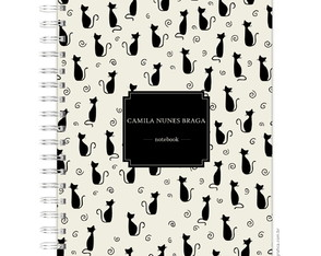 Caderno Universitário Gatos