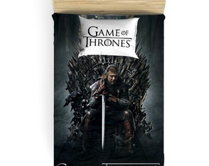 Kit Cobre Leito Game of Thrones P/ cama de Solteiro - 2pçs