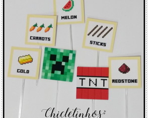 Toppers para doce Minecraft