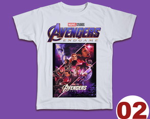 CAMISETAS AVENGERS END GAME -BABY LOOK OU TRADICIONAL