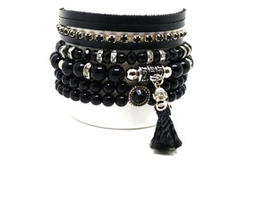 Kit de pulseiras Black Beauty