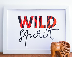 Quadro Decorativo Wild Spirit com Animal Print