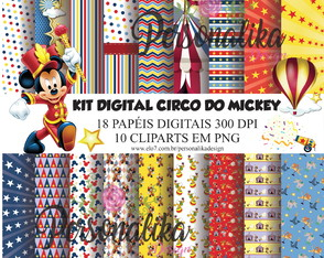 KIT DIGITAL CIRCO DO MICKEY