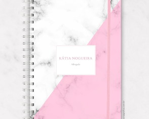 Planner Personalizado 2020 - Pink Marble