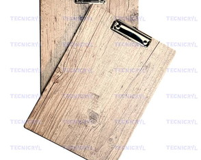 Prancheta A-4 Mdf Rustico Claro 2 Faces 6mm - Prendedor Wire
