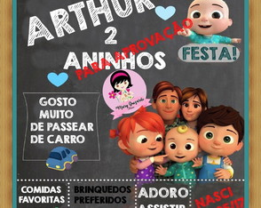 Lousinha do cocomelon Chalkboard Cocomelon ABC TV KIDS