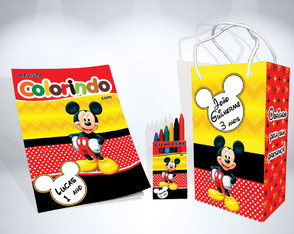 Kit de Colorir do Mickey + Brindes