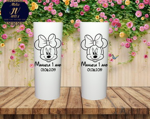 Copo personalizado Minnie Long Drink