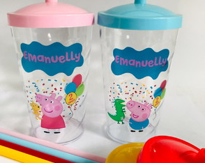 COPO TWISTER 500ML PERSONALIZADOS PEPPA PIG