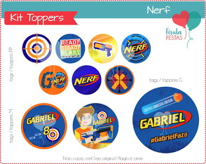 Kit Digital Toppers / Tags Nerf