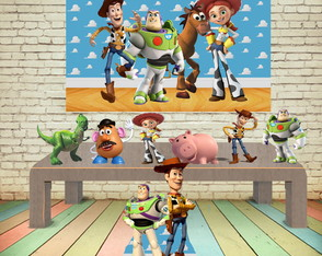 KIT COMPLETO TOY STORY COM PAINEL E DISPLAYS MDF
