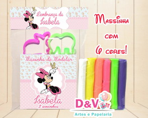 Kit Massinha + Moldes Minnie Rosa