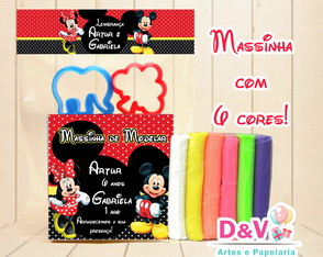 Massinha Mickey e Minnie + moldes
