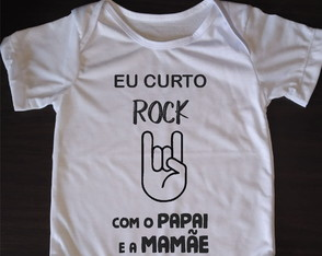 Body Infantil Curto Rock