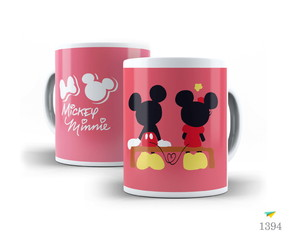 CANECA - MICKEY MOUSE E MINNIE MOUSE