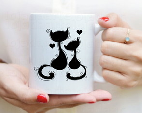 Caneca gatos love - cats cód: 583