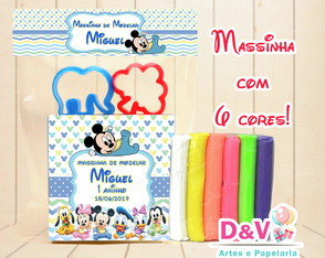 Kit Massinha Modelar Personalizada Disney Baby