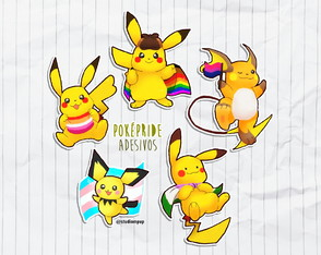 Kit de adesivos pokemon - PokéPride