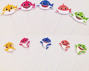 Toppers/ Apliques Baby Shark - 3 cm