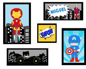 Quadros Decorativo Super Herois Avengers