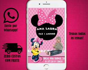 Convite digital da Minnie Mouse