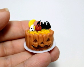 Mini torta de frutas Halloween