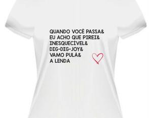 Camiseta Sandy e Junior Músicas