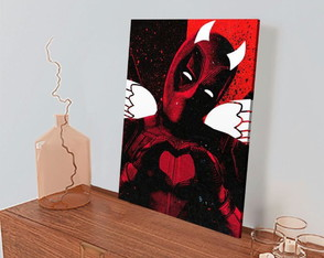 Quadro Decorativo DeadPool Thanos - 30x45