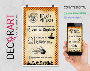 Convite Digital Harry Potter