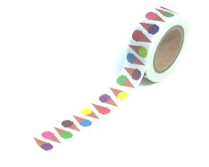 Washi Tape - Sorvetes Coloridos