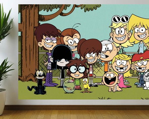 painel para festa the loud house 2.00 x 100