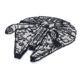 Patch Bordado Termocolante Star Wars - Millenium Falcon
