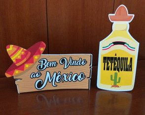 Display de mesa - kit mexicano