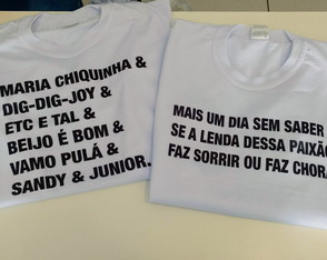 T-shirt Sandy & Junior Frases