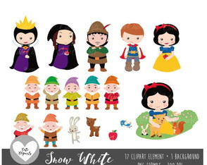 Kit Digital Branca de Neve - CuteClipart 1
