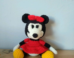 Personagem Minnie amigurumi