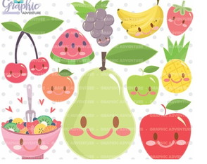 Kit Digital Frutas - Ad06