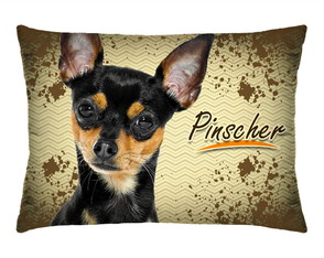 Travesseirinho Decorativo Cachorrinho Pinscher Com Refil 171