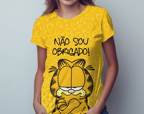 Camiseta t-shirt feminina Garfield