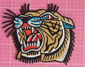 PATCH BORDADO TIGRE TERMOCOLANTE - GRANDE