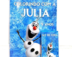 Kit de colorir Olaf