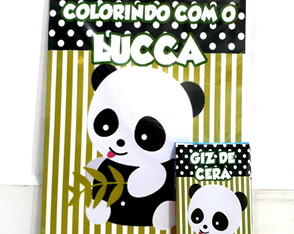 Kit de colorir Panda Menino