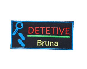 Patch Bordado DPA - Detetives do Prédio Azul Personalizado