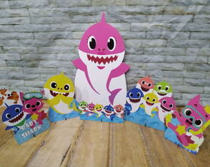 DISPLAY BABY SHARK ROSA