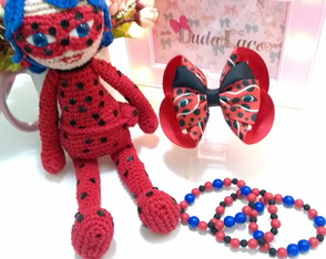 Kit Boneca Lady Bug