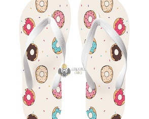 Chinelo personalizado donuts rosquinha chocolate doce